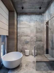 petite-salle-de-bain-style-masculin-bois-gris-credence-imitation-beton-douche-italienne